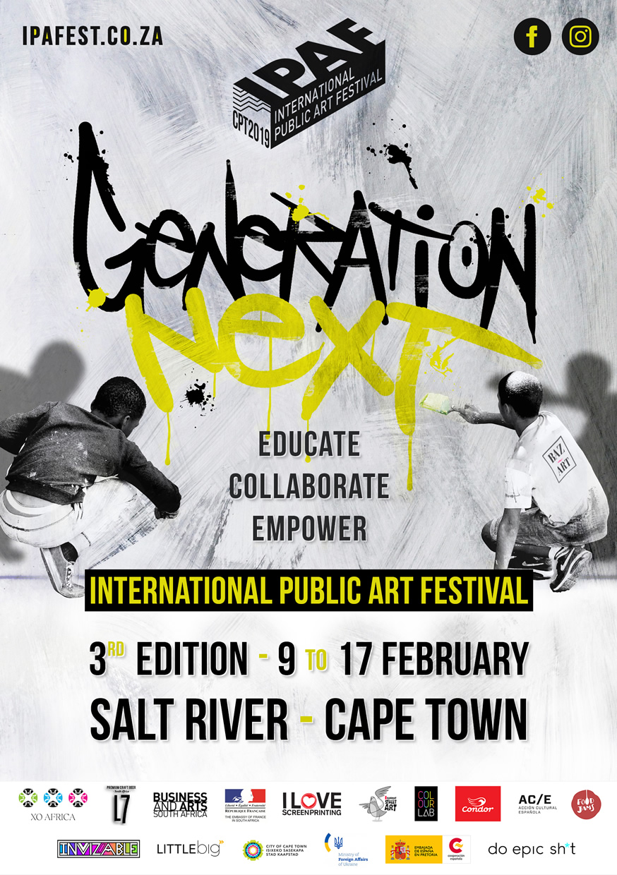 International Public Art Festival 2019 - 3rd edition - 9 to 17 February Salt River - Cape Town
