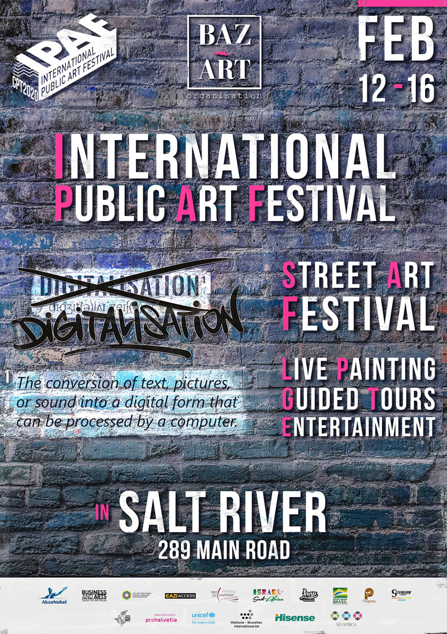 International Public Art Festival 2020 - 4th edition - 12 to 16 February Salt River - Cape Town